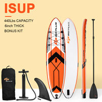 10.5' Inflatable Stand Up Paddle Board SUP W/ Fin Adjustable Paddle Backpack