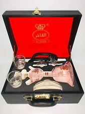 "AL-FAKHER 15""inch Pinkish Glass Hookah Shisha Complete Set Pipe with Hose Hookha"