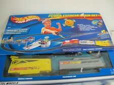 HOT WHEELS POWER EXPRESS TRAIN SET MATTEL 2001 WITH REMOTE IN BOX