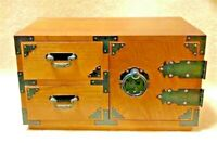 Japanese Tansu cheset storage Box Wood 28cm
