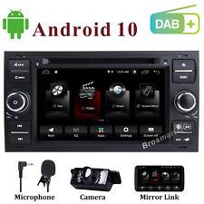 Android 10 Car DVD stereo Sat Nav GPS DAB+ Ford FIESTA TRANSIT KUGA S/C-Max Wifi