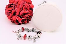 Pandora 2013 Twelve Days Of Christmas Charm Bracelet W/ Leather Zip Case
