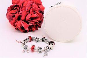 Pandora 2013 Twelve Days Of Christmas Charm Bracelet W/ Leather Zip Case