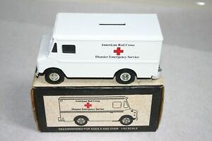 ERTL 1993 American Red Cross Disaster Emergency Service Van Bank 1/43 Scale