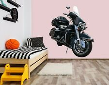 3D Black Motorcycle A230 Car Wallpaper Mural Poster Transport Wall Stickers Zoe