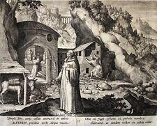Maarten de Vos Saint Alferius graveur Jan Sadeler Lives of the Hermits XVIe