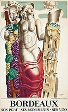 REPRO DECO AFFICHE BORDEAUX VINS PORT MONUMENTS ART DUPAS PAPIER 190 OU 310 GRS