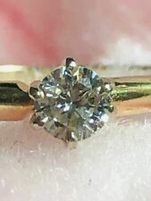 14K Real Gold with Round Cut Real Diamond 0.36CT Solitaire