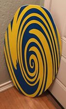"""37"""" X 19 3/7"""" Blue/Yellow Boogie Board- Signed By LIL MAXO"""