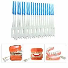 40 Pcs Rubber Elastic Toothpick Interdental Brushes Gums Massage Toothbrush