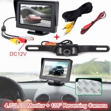 """DC12V Car Rear View Kit 4.3"""" TFT LCD Monitor +135° HD IR Reversing Backup Camera"""
