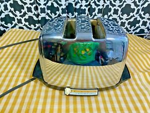 Vintage Sunbeam Radiant Shade Control Auto Drop Toaster Model AT-W Chrome