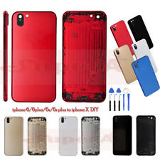 Battery Case Back Cover For iPhone 6 6s 6 Plus to iphone X Metal Housing Frame