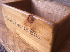 DUBLIN FARMHOUSE CONDIMENTS BASKET/BOX/ STORAGE~CAFE~RESTAURANT~PUB~BAR~CATERING