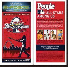 2009 DISNEY BASEBALL ALL STAR GAME BALLOT St Louis Busch Stadium Unpunched MINT