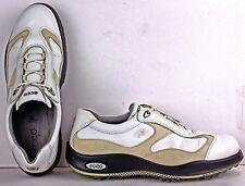 Ecco Women's Golf Shoes size 10-10.5 Hydromax Leather White w Cream Trim T15