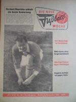 FUWO 50 - 12.12. 1961 Herbert Maschke Marokko-DDR 2:0 Alliance Düdelingen