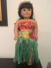 American Girl 18 inch doll size handmade Hula skirt, top and lei