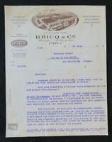 Facture 1926 BRICQ Paris courroie transporteur élévateur filature tissage