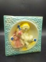 Vintage 1930's Shawnee Little Bo Peep Pottery Wall Pocket Vase #586 Exc!
