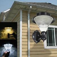 Solar Power 16-LED Fence Gutter Light Yard Wall Pathway Outdoor Garden ABS Lamp