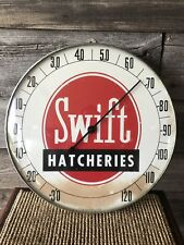 Vintage Swift Hatcheries Advertising Thermometer