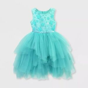 Disney Store Ariel Fancy Party Dress Holiday for Girls Tulle The Little Mermaid