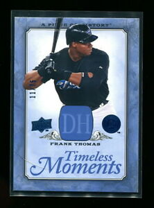 FRANK THOMAS 2008 UD PIECE OF HISTORY TIMELESS MOMENTS BLUE #d 11/75 RARE