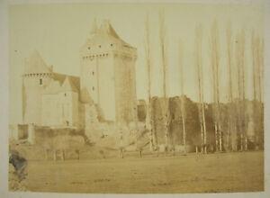 Hacia 1870 Castillo Fuerte En Berry (?) Bourges Fotografía Impresión Albuminada
