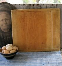 Antique Wood Bread Cutting Board Original Surface Baker's Ends