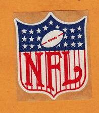 VINTAGE NFL SHIELD LOGO 1960's 3 inch KRAFT BACKED CLOTH DECAL STICKER Unused