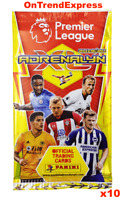 10 x Packs of 2019 2020 PANINI Adrenalyn XL Premier League Soccer Trading Cards