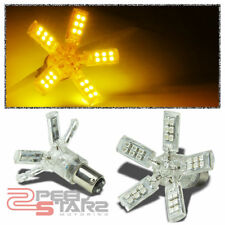 X2 40 3528 SMD 1157 BRIGHT AMBER LED SPIDER 5 SPOKES/ARMS TAIL/BRAKE LIGHT BULB