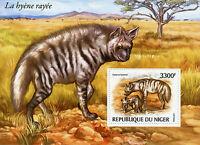 Niger 2015 MNH Striped Hyena WWF 1v S/S Hyenas Wild Animals Fauna