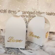 Darceys Love Favour heart soy Wax Melt Boxes. Wedding. Stocking fillers