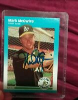 MARK McGWIRE 1987 FLEER UPDATE RC SIGNED AUTOGRAPHED CARD U-76