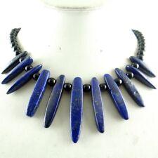Natural lapis lazuli &agate Bead pendant Gemstone Jewellery Handmade Necklace R3