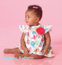 McCalls M7107 Easy PATTERN - Infants Rompers -  Brand New - Nbn - XLg