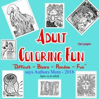 Adult coloring book - the coolest - strangest and difficult coloring fun