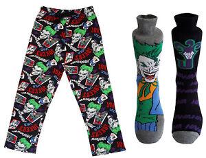 Mens The Joker Loungepants & 2pk Socks Gift Pack Christmas Deal Stocking Filler