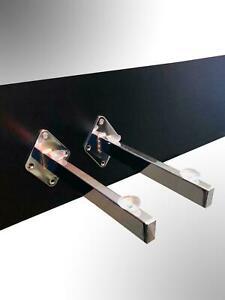 CHROME GLASS SHELF BRACKETS + SUCTION PADS SCREW FIX WALL MOUNTING