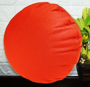 PL19n Orange Canvas Water Proof Outdoor Round Shape Cushion Cover Custom Size