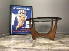 Nice Retro G Plan Round Astro Coffee Table - Vintage Teak Glass Side Lamp 896