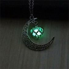 Crescent Sailor Moon Glow in The Dark Pendant Necklace Women's Jewelry Gift NEW!