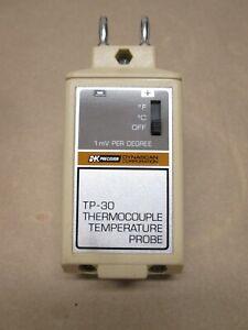 BK PRECISION TP-30 THERMOCOUPLE TEMPERATURE PROBE W/NEW~BATT TESTED CALIBRATABLE