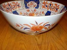 Antique Chinese  Porcelain Bowl  Butterflies Flowers Blue Gold large
