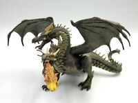 Figurine statuette pvc Dragon 2 Têtes 2005 Papo knights Medieval 22 x 12 cm