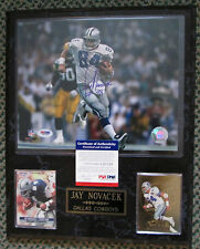 RARE JAY NOVACEK AUTO SIGNED 12 x 15 PLAQUE COWBOYS COA PSA/DNA
