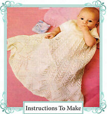 Vintage Visage knitting pattern-how to make a pretty lace baby christening gown