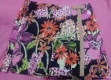 Lilly Pulitzer Black Flower Market Skirt Skort  Sz 12 Girls